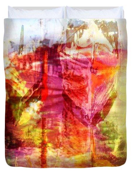 My Heart Belongs To You Ocean Duvet Cover by PainterArtist FIN