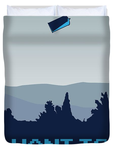 My I Want To Believe Minimal Poster- Tardis Duvet Cover by Chungkong Art