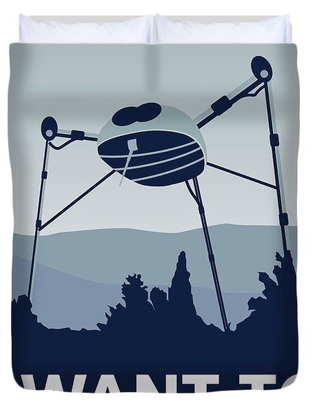 My I Want To Believe Minimal Poster-war-of-the-worlds Duvet Cover by Chungkong Art