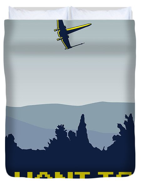 My I Want To Believe Minimal Poster- Xwing Duvet Cover by Chungkong Art