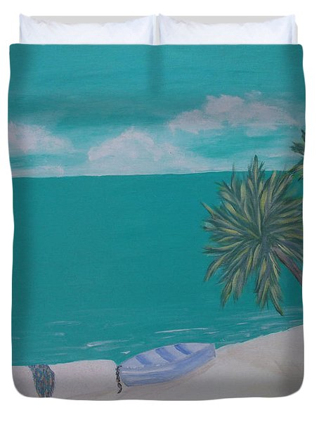 My Island Duvet Cover by Inge Lewis