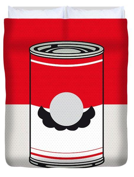 My Mario Warhols Minimal Can Poster-mario Duvet Cover by Chungkong Art