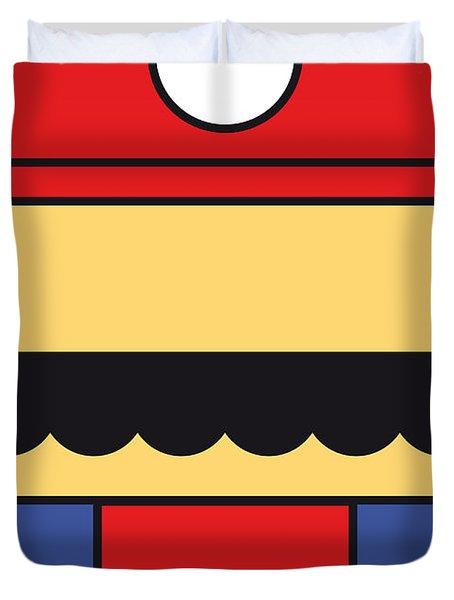 MY MARIOBROS FIG 01 MINIMAL POSTER Duvet Cover by Chungkong Art