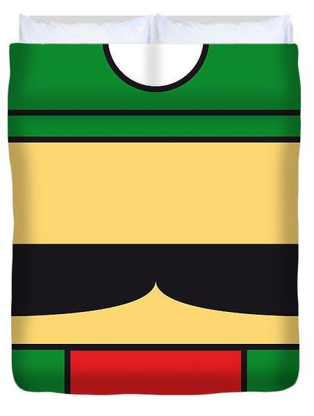MY MARIOBROS FIG 02 MINIMAL POSTER Duvet Cover by Chungkong Art