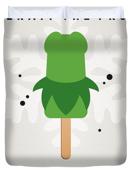 My Muppet Ice Pop - Kermit Duvet Cover by Chungkong Art