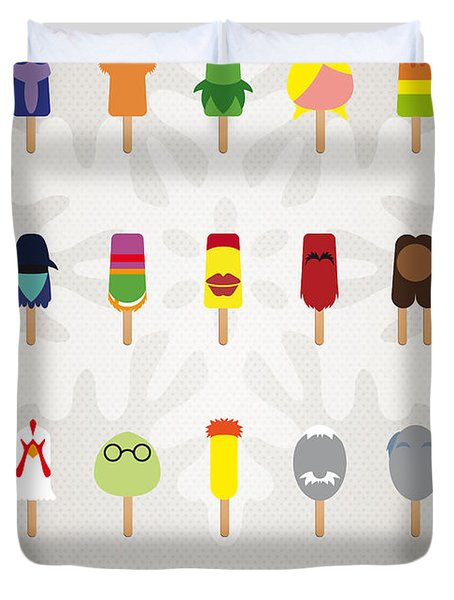 My Muppet Ice Pop - Univers Duvet Cover by Chungkong Art