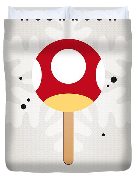 My NINTENDO ICE POP - Mushroom Duvet Cover by Chungkong Art