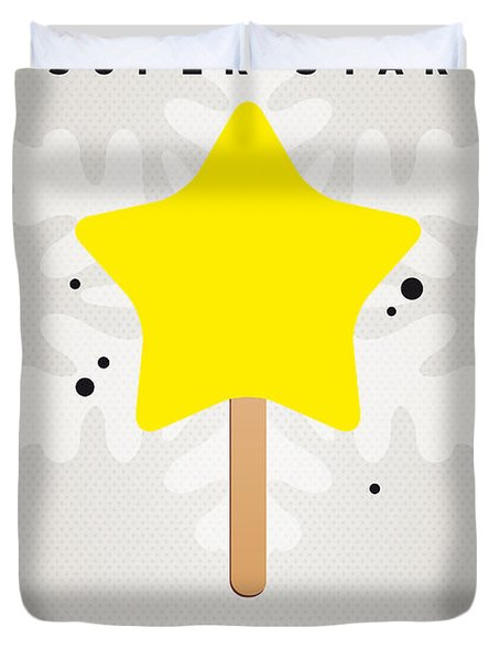 My Nintendo Ice Pop - Super Star Duvet Cover by Chungkong Art