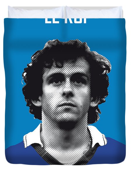 My Platini Soccer Legend Poster Duvet Cover by Chungkong Art