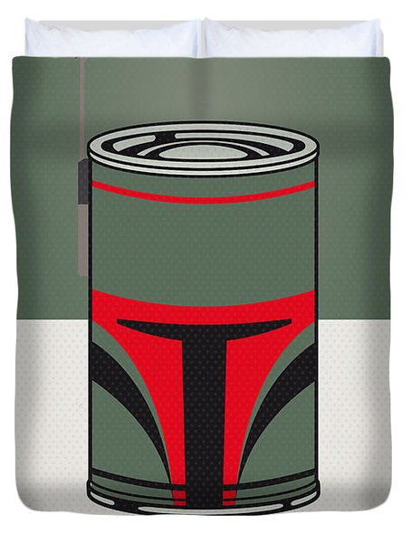 My Star Warhols Boba Fett Minimal Can Poster Duvet Cover by Chungkong Art