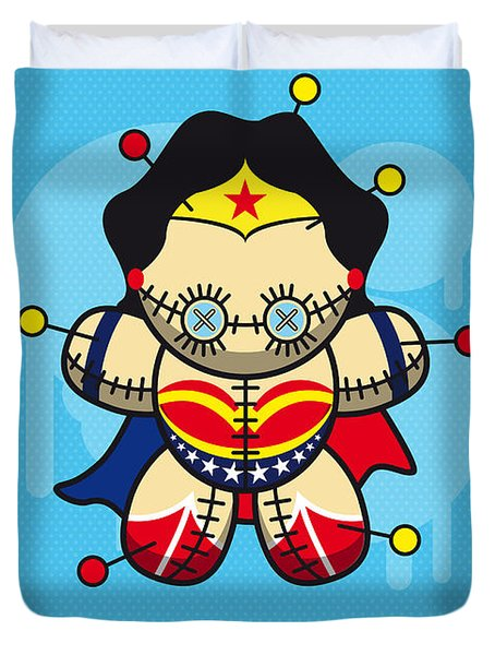 My Supercharged Voodoo Dolls Wonder Woman Duvet Cover by Chungkong Art