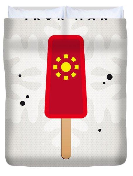 My SUPERHERO ICE POP - Iron Man Duvet Cover by Chungkong Art