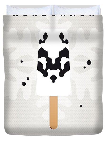 My Superhero Ice Pop - Rorschach Duvet Cover by Chungkong Art