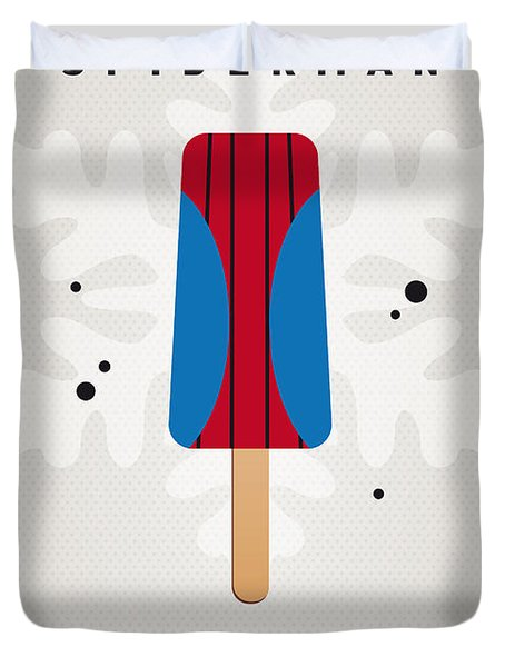 My Superhero Ice Pop - Spiderman Duvet Cover by Chungkong Art