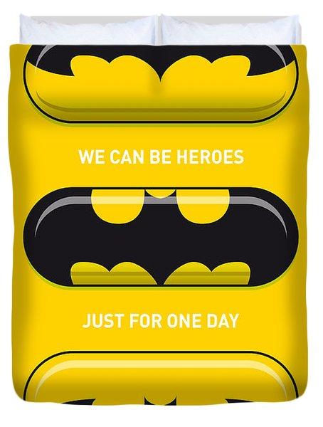 My Superhero Pills - Batman Duvet Cover by Chungkong Art