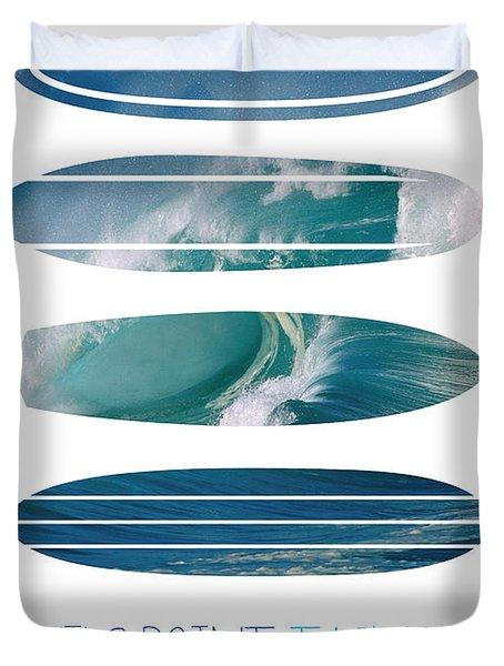 My Surfspots poster-5-Devils-Point-Tasmania Duvet Cover by Chungkong Art