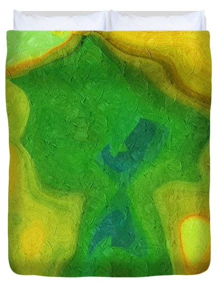 My Teddy Bear - Digital Painting - Abstract Duvet Cover by Andee Design