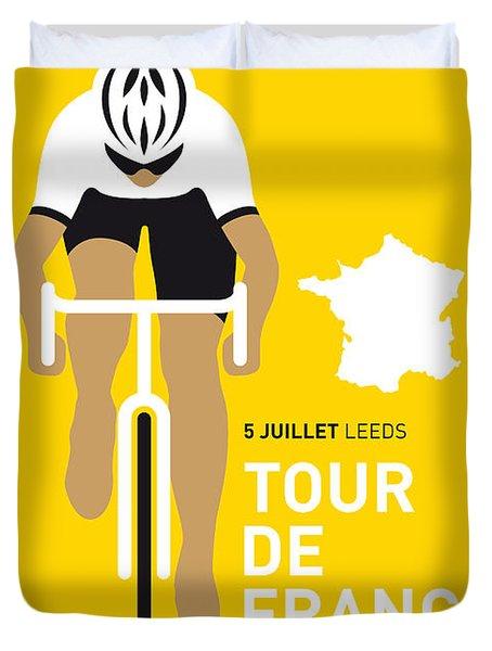 My Tour De France Minimal Poster 2014 Duvet Cover by Chungkong Art