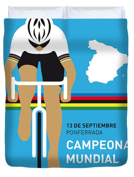 My Uci Road World Championships Minimal Poster 2014 Duvet Cover by Chungkong Art