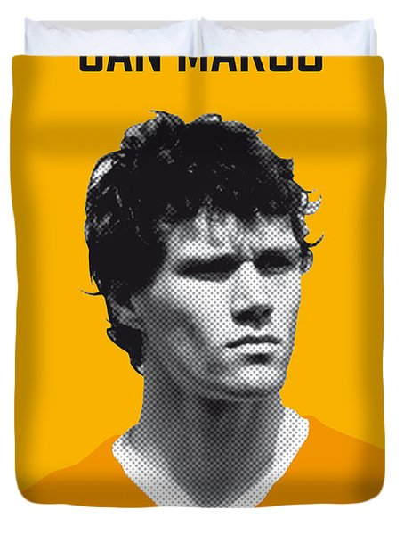 My Van Basten Soccer Legend Poster Duvet Cover by Chungkong Art