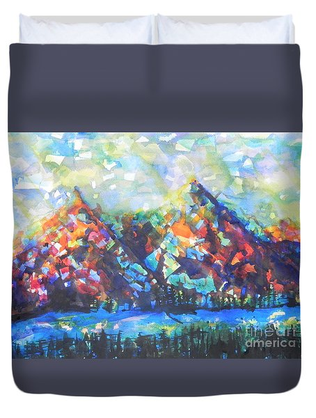 My Vision Say It Out Loud Duvet Cover by Chrisann Ellis