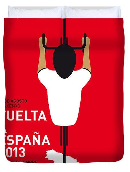 My Vuelta A Espana Minimal Poster - 2013 Duvet Cover by Chungkong Art