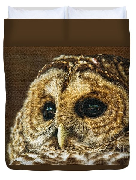 My What Big Eyes You Have Duvet Cover by Lois Bryan