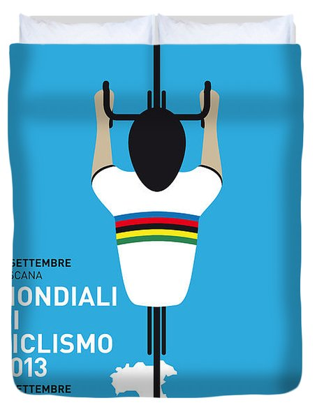 MY World Championships MINIMAL POSTER Duvet Cover by Chungkong Art
