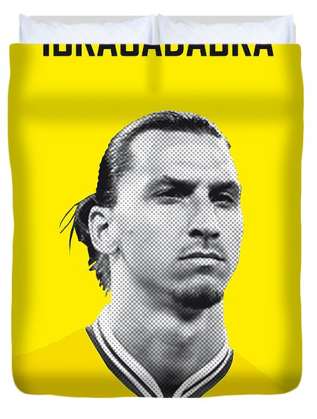 My Zlatan Soccer Legend Poster Duvet Cover by Chungkong Art