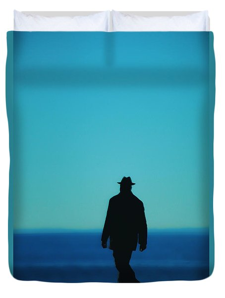 Mysterious Man Duvet Cover by Karol Livote