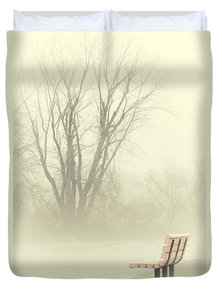Mysterious Peace Duvet Cover by Karol Livote