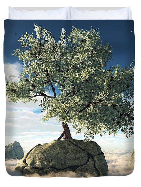 Mystery Tree Duvet Cover by Eric Nagel