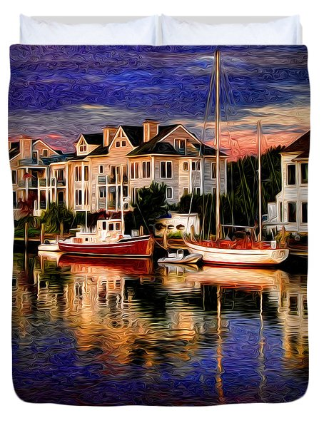 Mystic Ct Duvet Cover by Sabine Jacobs