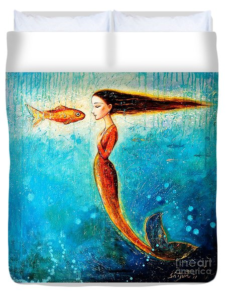 Mystic Mermaid II Duvet Cover by Shijun Munns