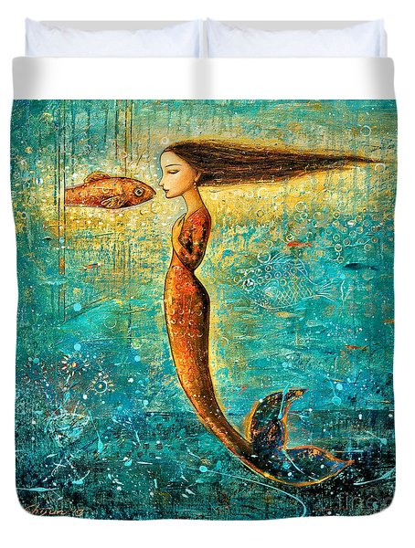 Mystic Mermaid IV Duvet Cover by Shijun Munns