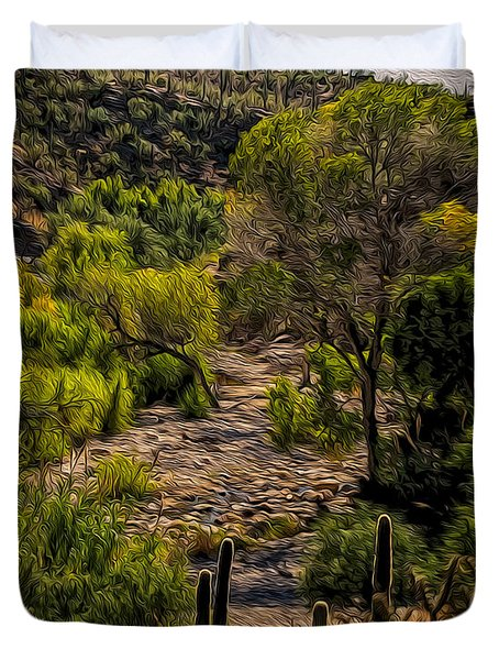 Mystic Wandering Duvet Cover by Mark Myhaver