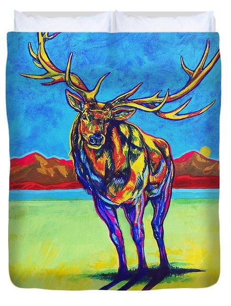 Mythical Elk Duvet Cover by Derrick Higgins