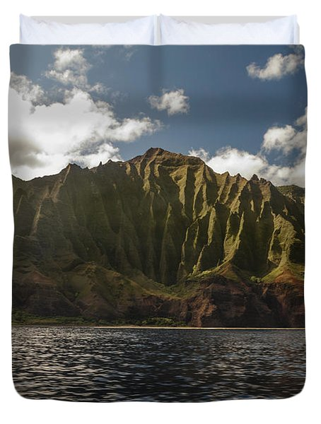 Na Pali Coast Kauai Hawaii Duvet Cover by Brian Harig