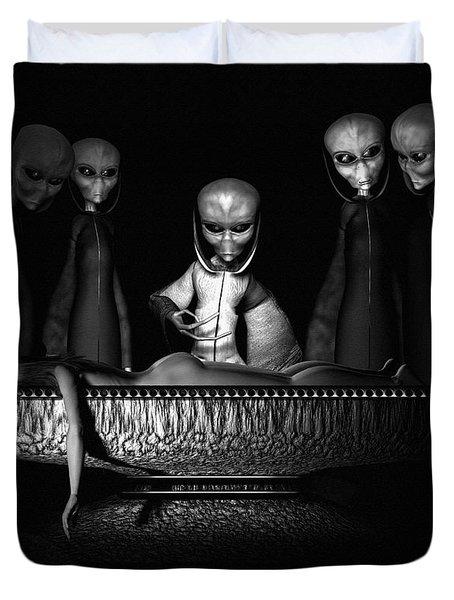Nameless Faces Duvet Cover by Bob Orsillo