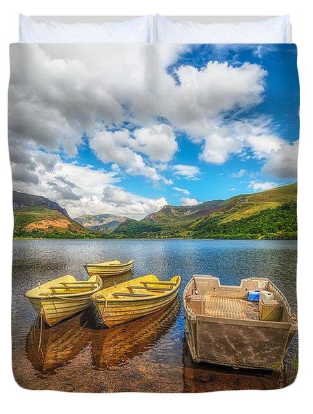 Nantlle Lake Duvet Cover by Adrian Evans