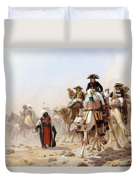 Napoleon And His General Staff Duvet Cover by Jean Leon Gerome