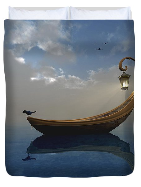 Narcissism Duvet Cover by Cynthia Decker