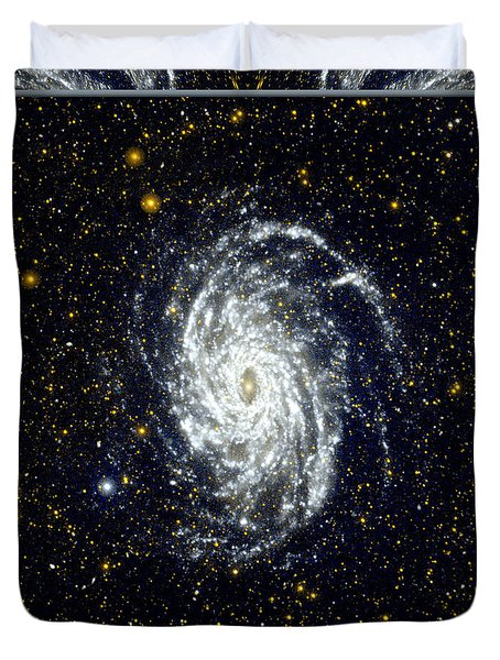 NASA Big Brother to the Milky Way Duvet Cover by Rose Santuci-Sofranko