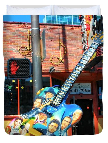 Nashville Legends Guitar Duvet Cover by Dan Sproul