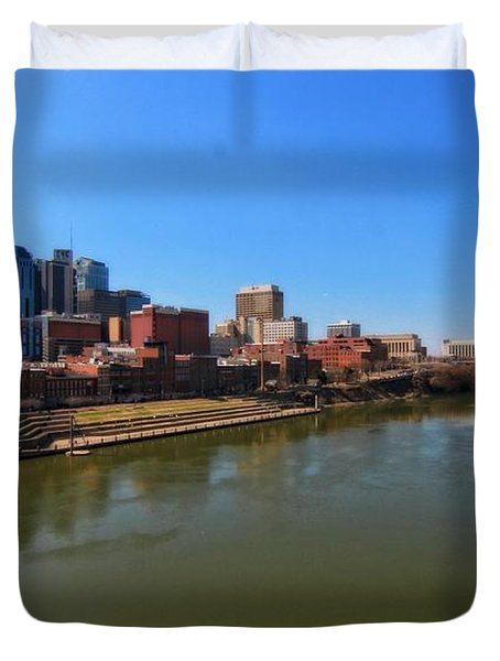 Nashville Skyline  Duvet Cover by Dan Sproul
