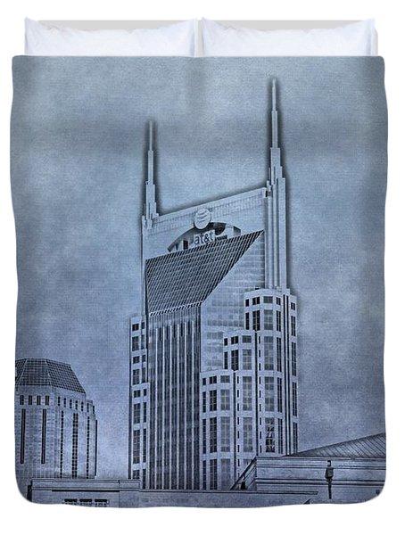 Nashville Skyline Sketch Duvet Cover by Dan Sproul