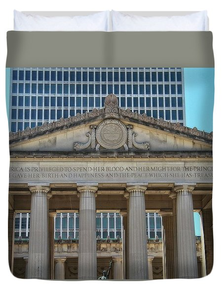 Nashville War Memorial Auditorium Duvet Cover by Dan Sproul