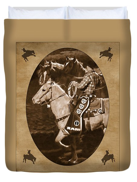 National Western Stock Show Duvet Cover by Priscilla Burgers