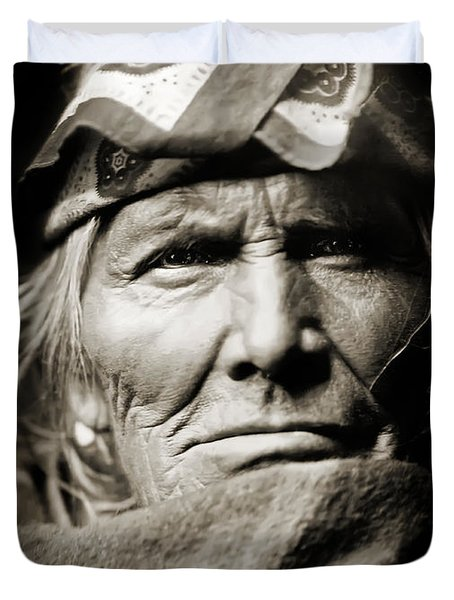 Native American Zuni -  Si Wa Wata Wa  Duvet Cover by The  Vault - Jennifer Rondinelli Reilly