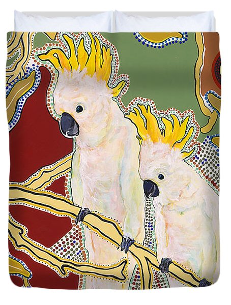 Native Aussies Duvet Cover by Pat Saunders-White